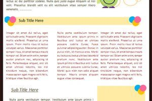 Online newsletters examples child