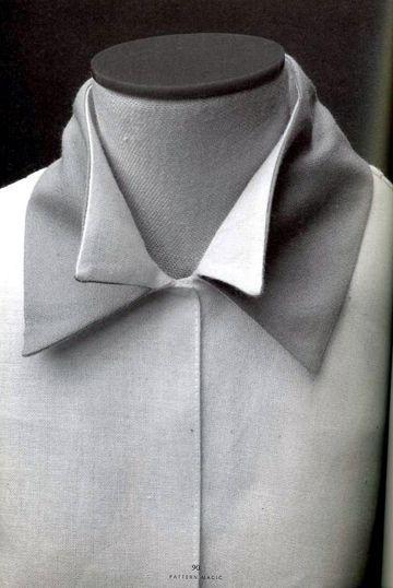 Shirt with double collar detail - creative patternmaking; sewing ideas; fabric manipulation // Pattern Magic by Tomoko Nakamichi #NaaiAntwerp