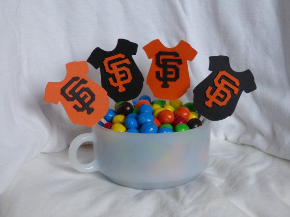 MLB Giants Onesie Party Picks  Set of 12 by GigisShop805 on Etsy