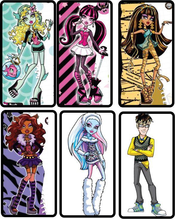 Imágenes de Monster High.