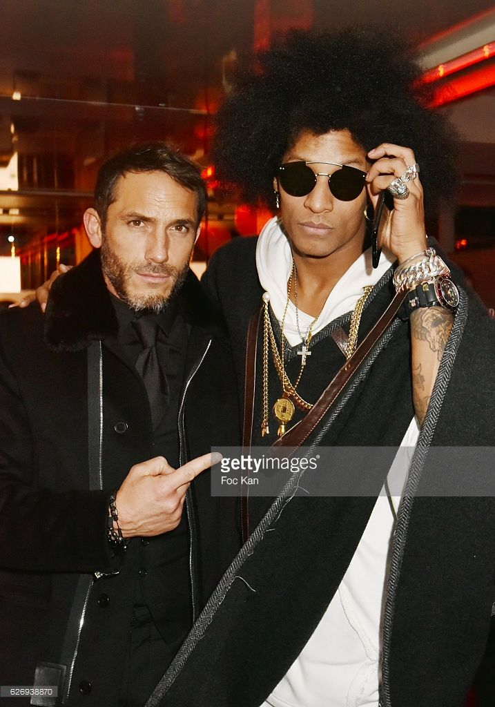Sebastien Jondeau and Laurent from Les Twins attend Bruno Mars Official After Show at VIP Room Theater on November 30, 2016 in Paris, France.