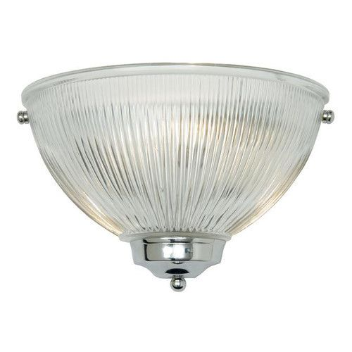 THE DOME CHROME AND CLEAR PRISMATIC FLUSH WALL LIGHT
