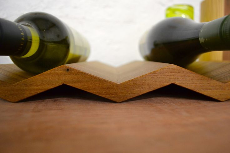 Solid Elm wine rack by eacdesign