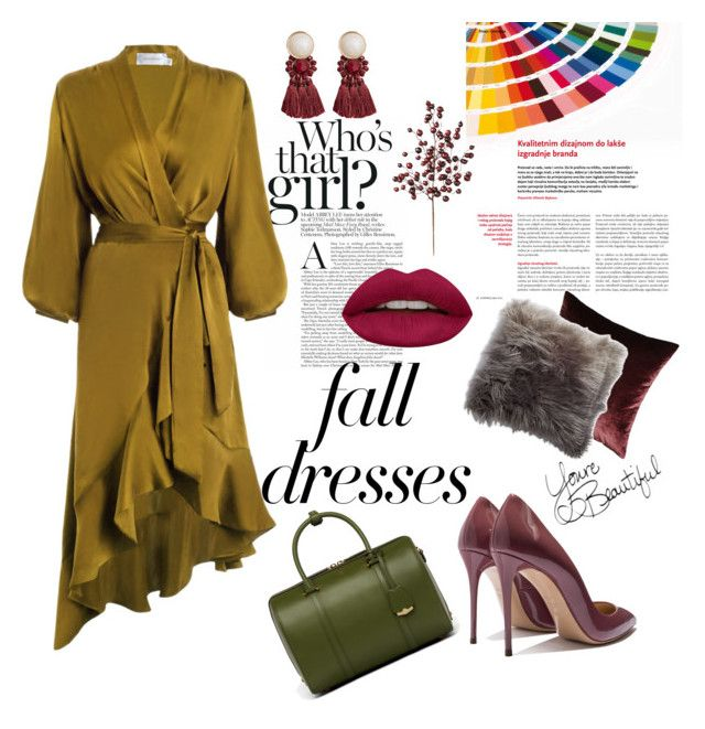 """Fall in look🍁"" by guruolivella on Polyvore featuring moda, Zimmermann, MCM, Huda Beauty, Eastern Accents, Thro, Frontgate y MANGO"
