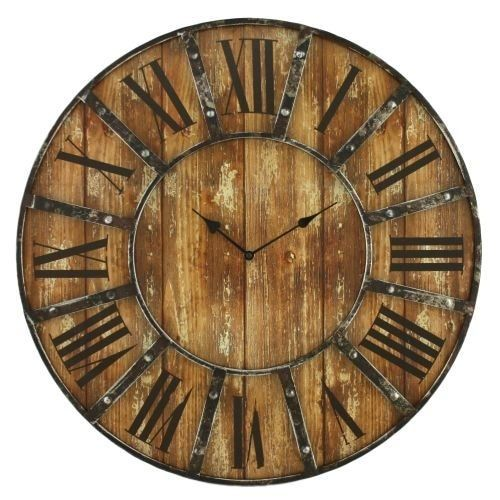 This distressed wall clock makes the perfect addition to any industrial or rustic style home.