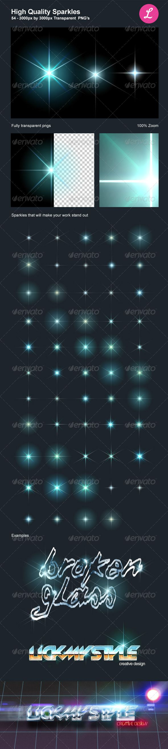 High Quality Sparkles - #Decorative Graphics Download here:  https://graphicriver.net/item/high-quality-sparkles/4566079?ref=alena994