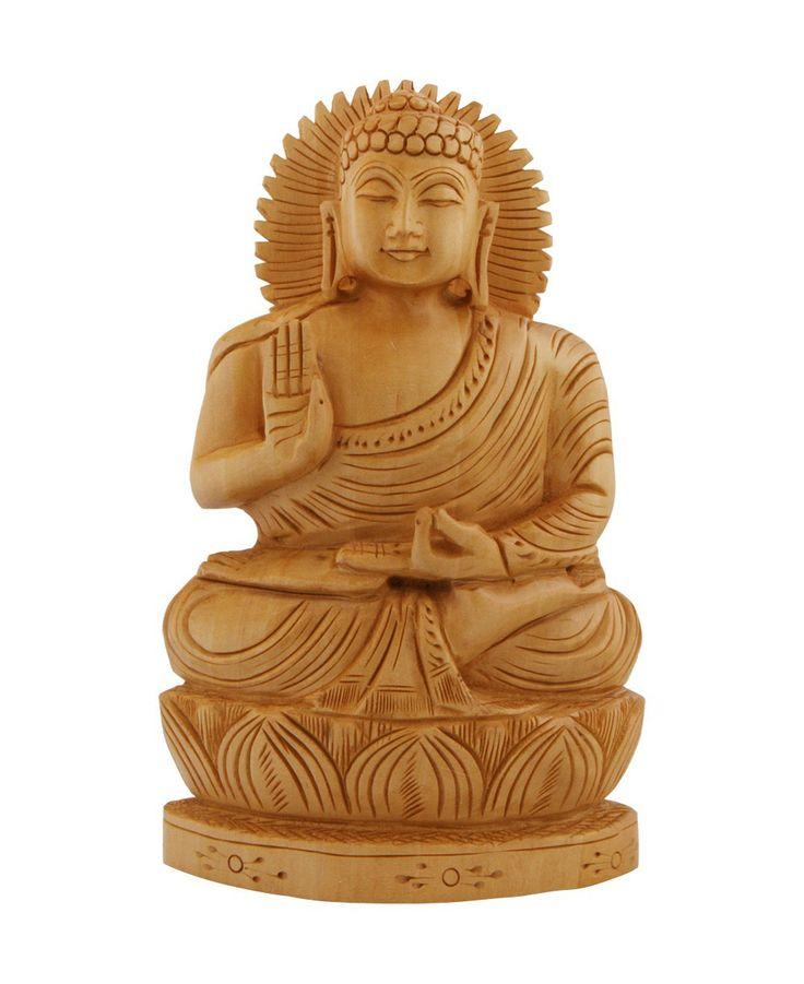 hand carved meditating buddha statue on lotus base. Black Bedroom Furniture Sets. Home Design Ideas