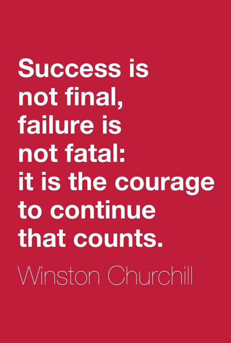 Success is not final failure is not fatal it is…