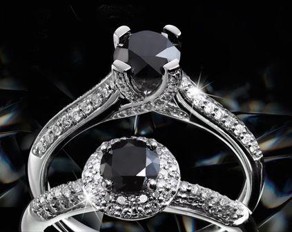 Black diamond love diamond ring.