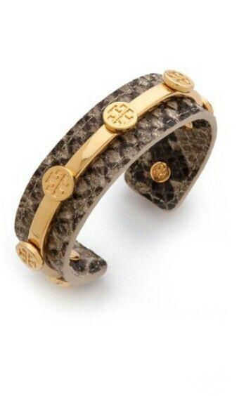Tony Burch leather logo cuff bracelet from Shopbop