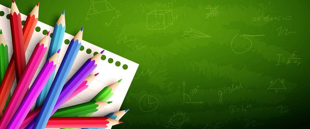 قلم سبورة التدريس العناصر في خلفية خضراء Green Backgrounds Background Powerpoint Background