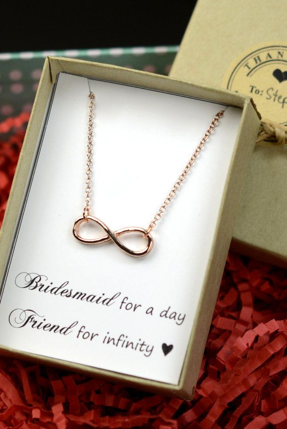 Personalized NecklaceInfinity Bracelet Lucky CardBest Friendfriendship To InfinityBeach Wedding GiftsBridesmaid Gifts Jewelry