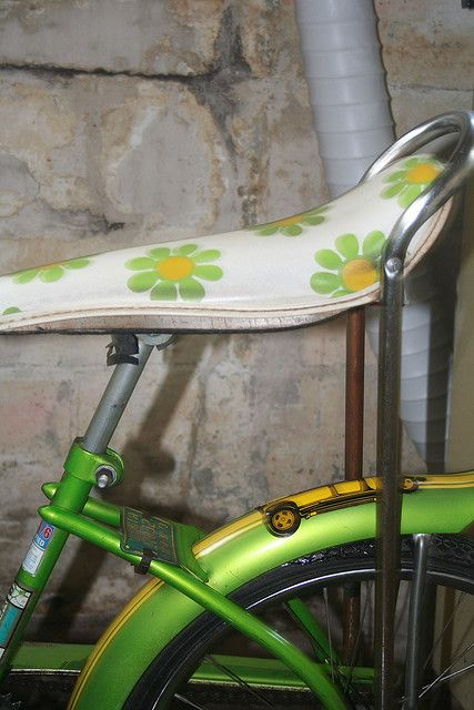 Vintage Green Beauty - I had a banana seat bike just like this! Mine was pink and yellow though!