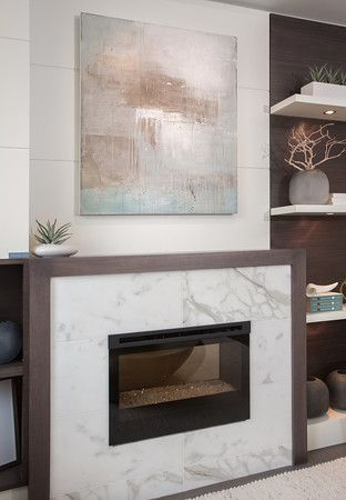 Marble Fireplace and Custom Art