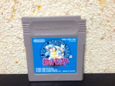 Pokemon Blue Game Boy Japan Nintendo Pocket Monsters Japanese Blue version