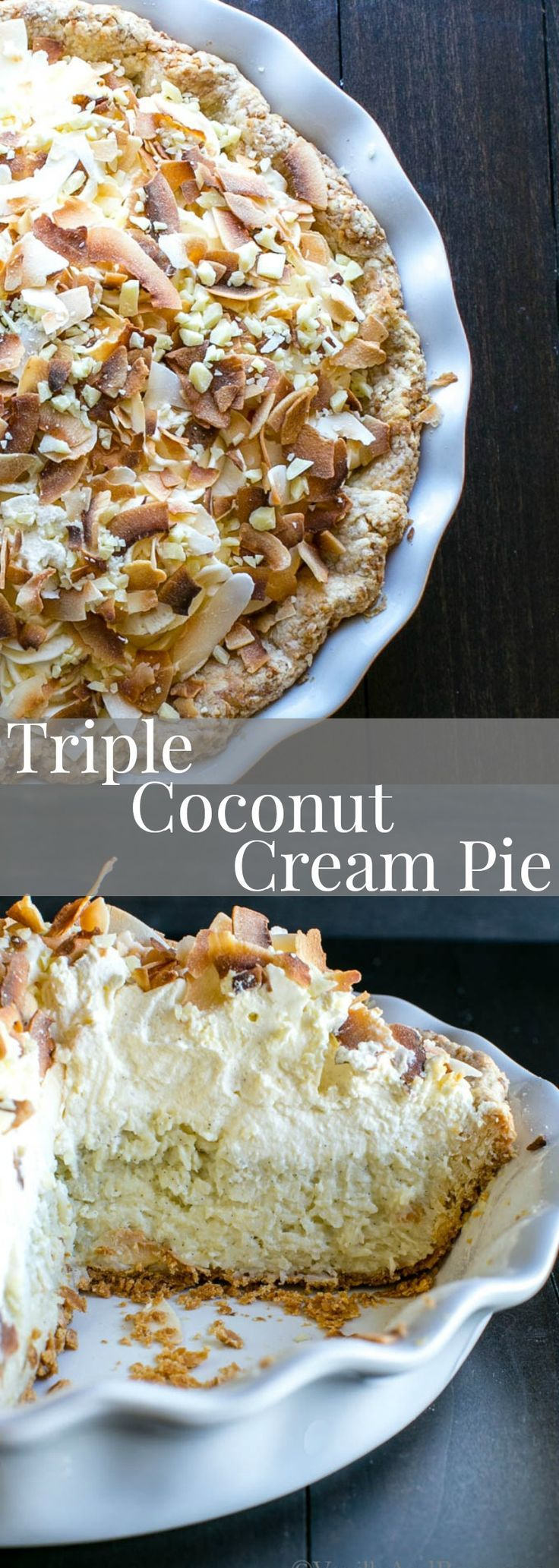 Creamy, sweet, crunchy and oh so coconutty. Try this Triple Coconut Creme Pie for your next special occasion! Recipe