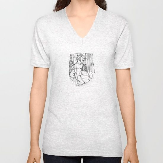 American Apparel Fine Jersey V-Necks are made with 100% fine jersey cotton…