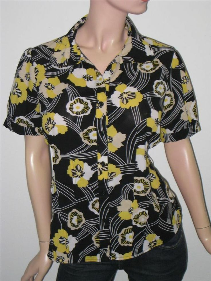 Xl Daisy Floral Sunny Print Fitted Womens Button Up Dress