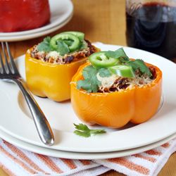 Chorizo-Stuffed Roasted Bell Peppers. #foodgawkerChorizostuf Roasted, Recipe Ideas, Belle Peppers, Chorizo Stuffed Roasted, Chorizostuf Belle, Chorizo Stuffed Belle, Roasted Belle, Stuffed Bell Peppers, Stuffed Peppers