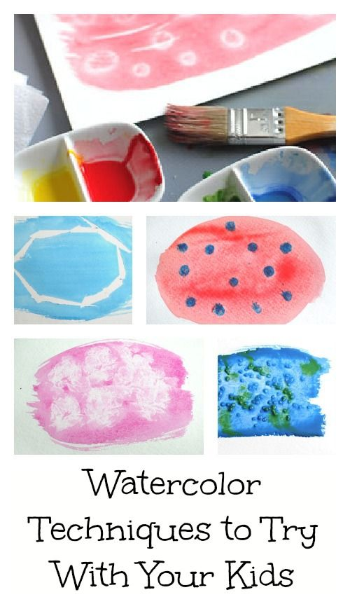 Lots of watercolor techniques to try with your kiddos