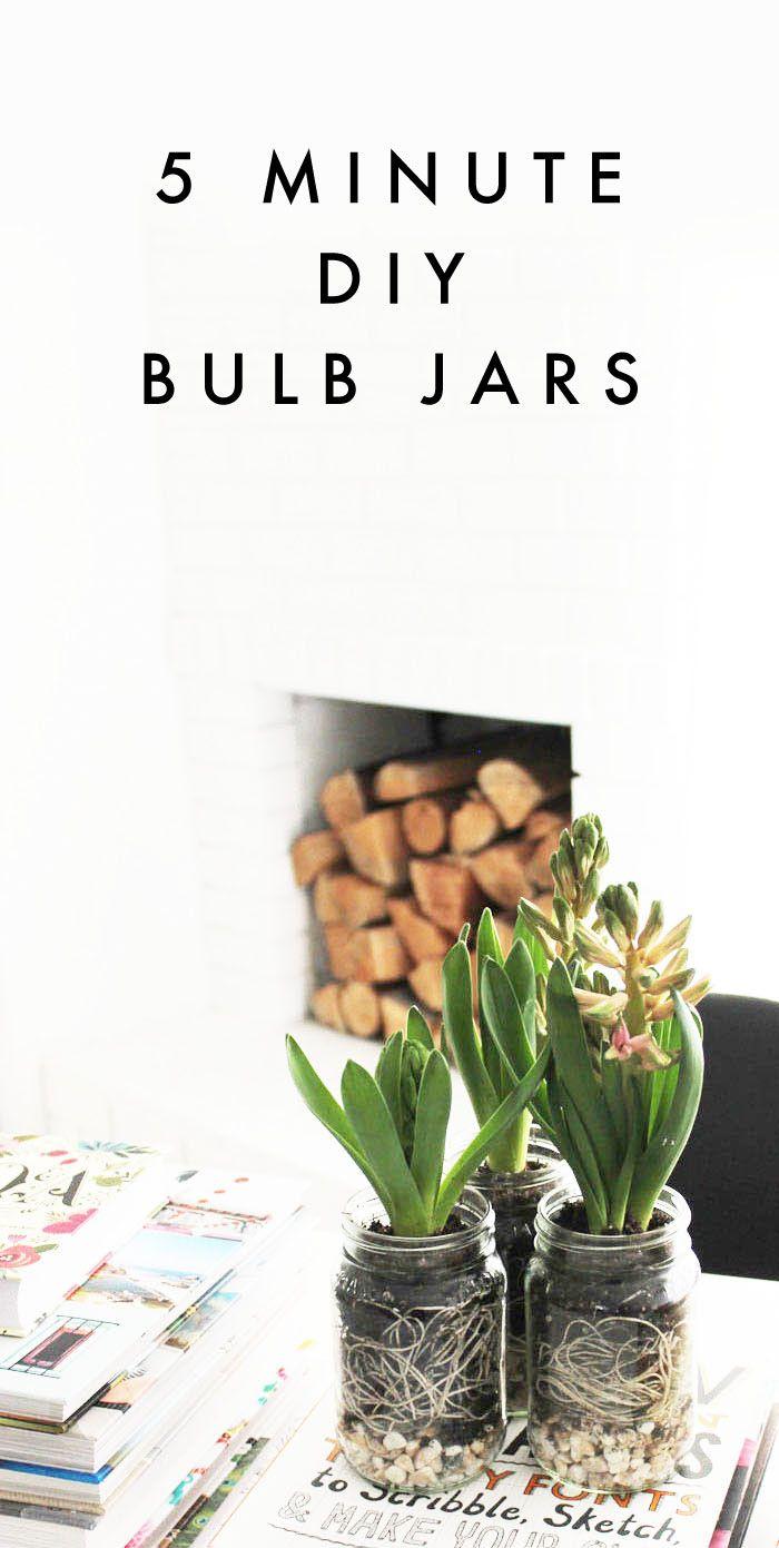 Poppytalk: 5 Minute DIY | Spring Bulb Jars