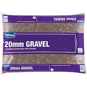 Wickes 20mm Gravel Major Bag