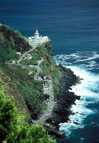 Sao Miguel island, Beautiful Arnel Lighthouse view