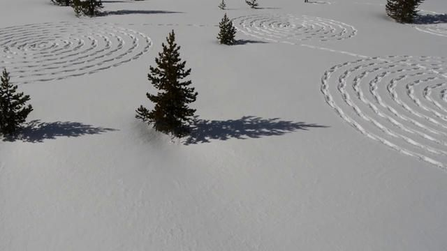 Snow Circles. Video by Beauregard, Steamboat Aerials.