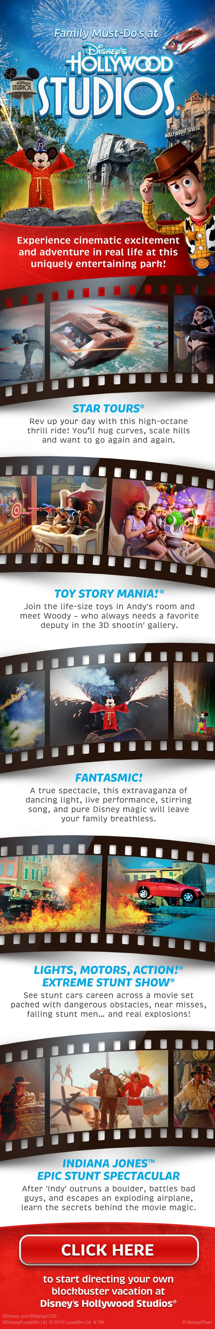 Family Must-Do's at Disney's Hollywood Studios! Star Wars, Toy Story, Fantasmic starring Mickey Mouse, Indiana Jones! #WaltDisneyWorld #vacation #tips #tricks