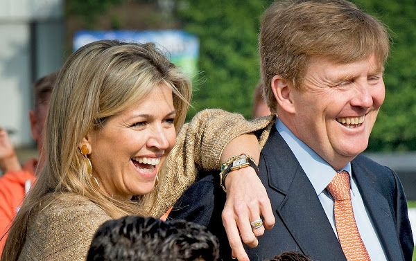 King Willem-Alexander and Queen Maxima open the King's Games 2015 in Leiden