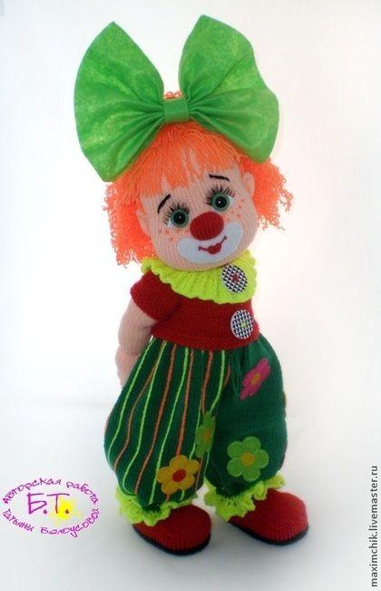 Человечки ручной работы. Ярмарка Мастеров - ручная работа Клоунесса. Вязаная каркасная кукла.. Handmade.