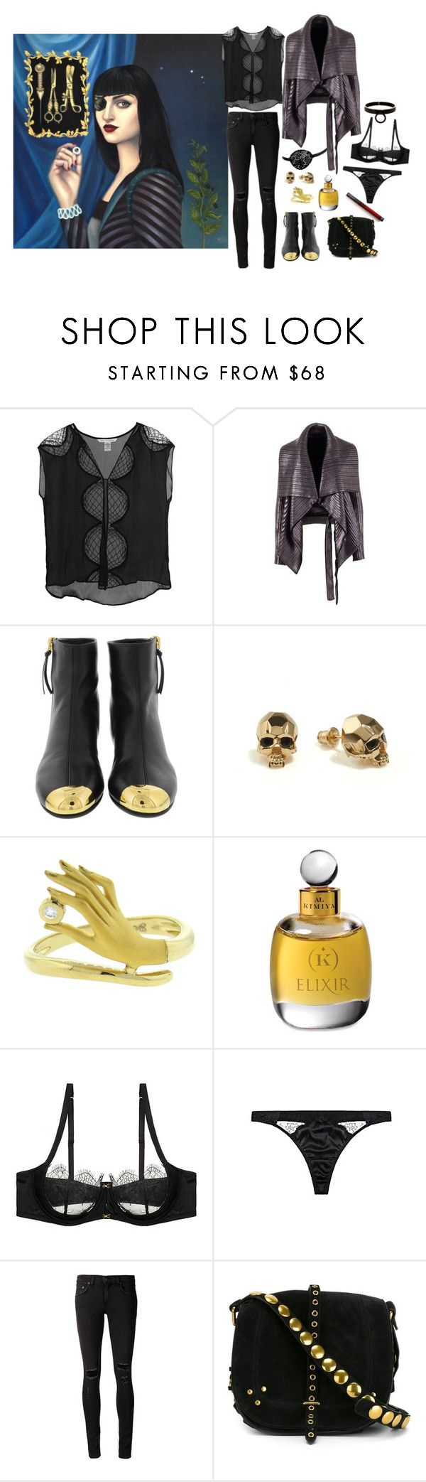 """Ocular Prosthesis"" by ghoulnextdoor ❤ liked on Polyvore featuring Diane Von Furstenberg, Gareth Pugh, Giuseppe Zanotti, Kasun, Carrera y Carrera, rag & bone/JEAN and Jérôme Dreyfuss"