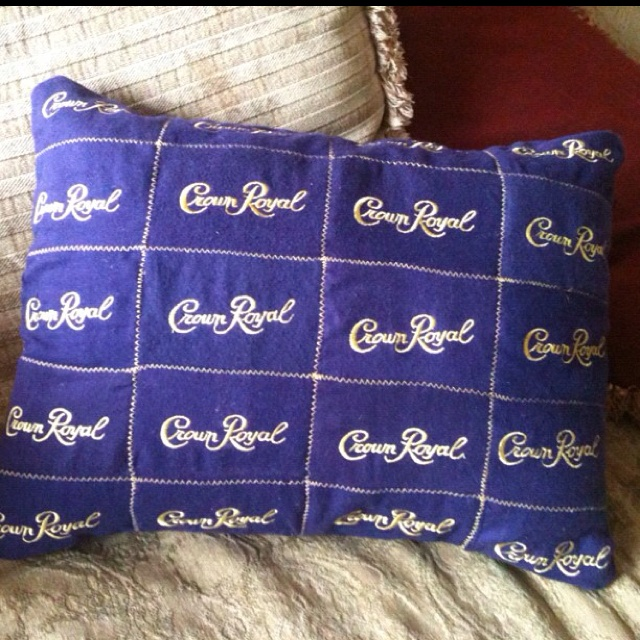 Crown Royal pouches made into a pillow!