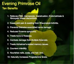 Evening Primrose Oil benefits - This is amazing for endo symptoms and anything menstrual. Read the article for more info.
