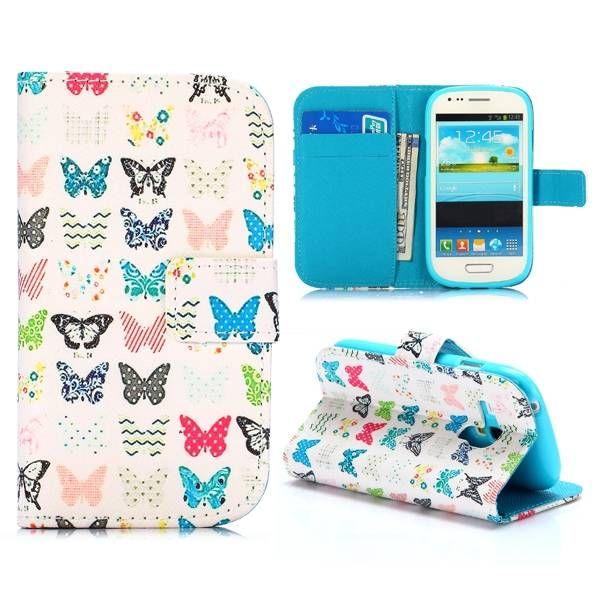 Vlindertjes bookcase hoes voor Samsung Galaxy S3 mini