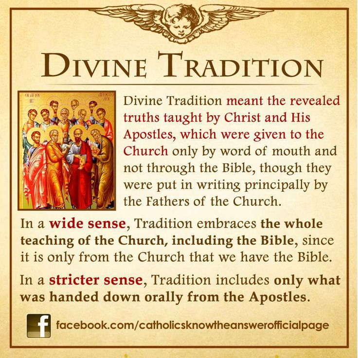 "09 FEBRUARY 2014 - The basic thing a Catholic must know when we pertain to the words ""Divine Tradition"": —"
