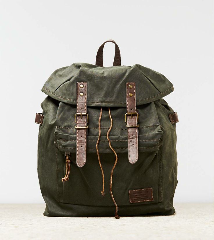 AEO Canvas Backpack... OKAY I LOVE this! <3 <3 <3 WANT! WANT! WANT!