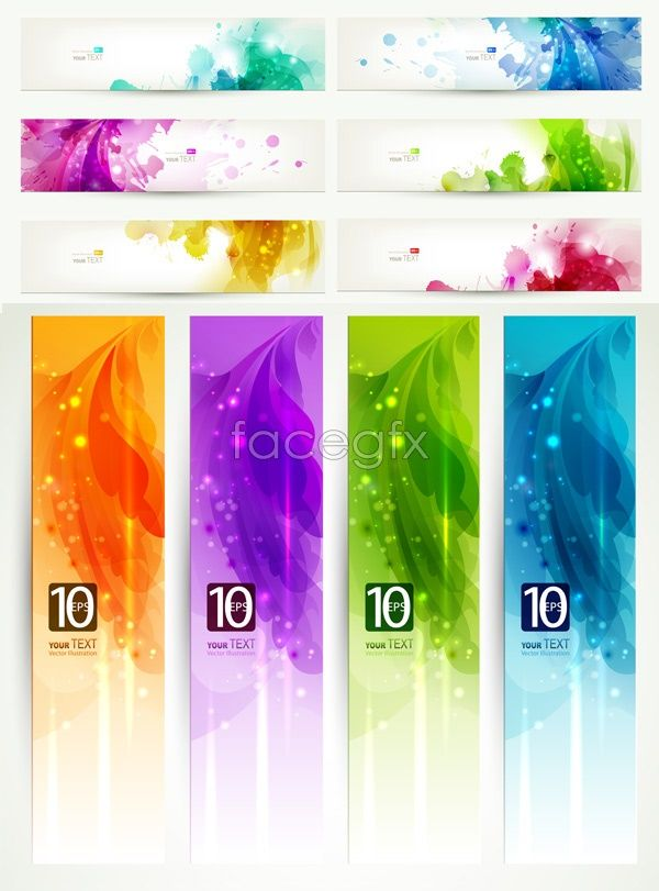 Colorful banner design Vector