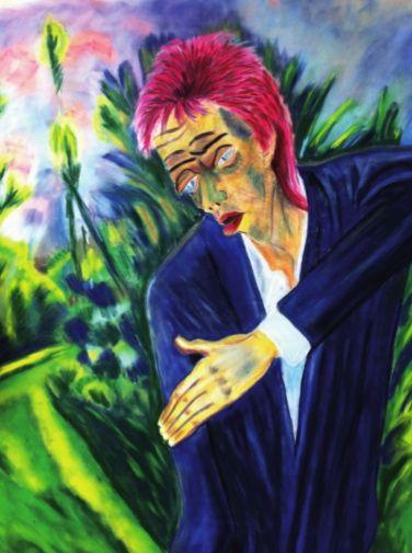 Snapple - Ziggy Kirchner, 2013, pastel on velour-paper, 80 x 60 cm.  Based on Erich Heckel, Roquairol, 1917, Brücke-Museum Berlin.  Courtesy of Egbert Baqué Contemporary Art, Berlin.