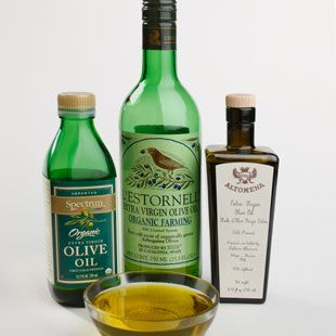 """Why buy extra-virgin olive oil: Olive oil is a monounsaturated fat and research shows that monounsaturated fats help keep """"bad"""" LDL cholesterol low and boost levels of """"good"""" HDL cholesterol. In addition, extra-virgin olive oil is high in antioxidants called polyphenols that have been linked to heart health. """"Pure"""" olive oil (i.e., not virgin) doesn't contain these """"bonus"""" antioxidants."""