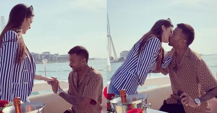 Sealed With A Kiss Hardik Pandya Gets Engaged To Serbian Actress Natasa Stankovic In 2020 Hardik Pandya Girlfriend Actresses Shocking News