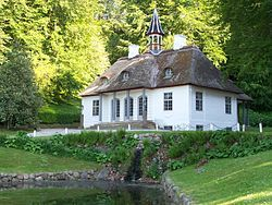 Liselund is an 18th-century aesthetically landscaped park, complete with several exotic buildings and monuments. Located close to Møns Klint...