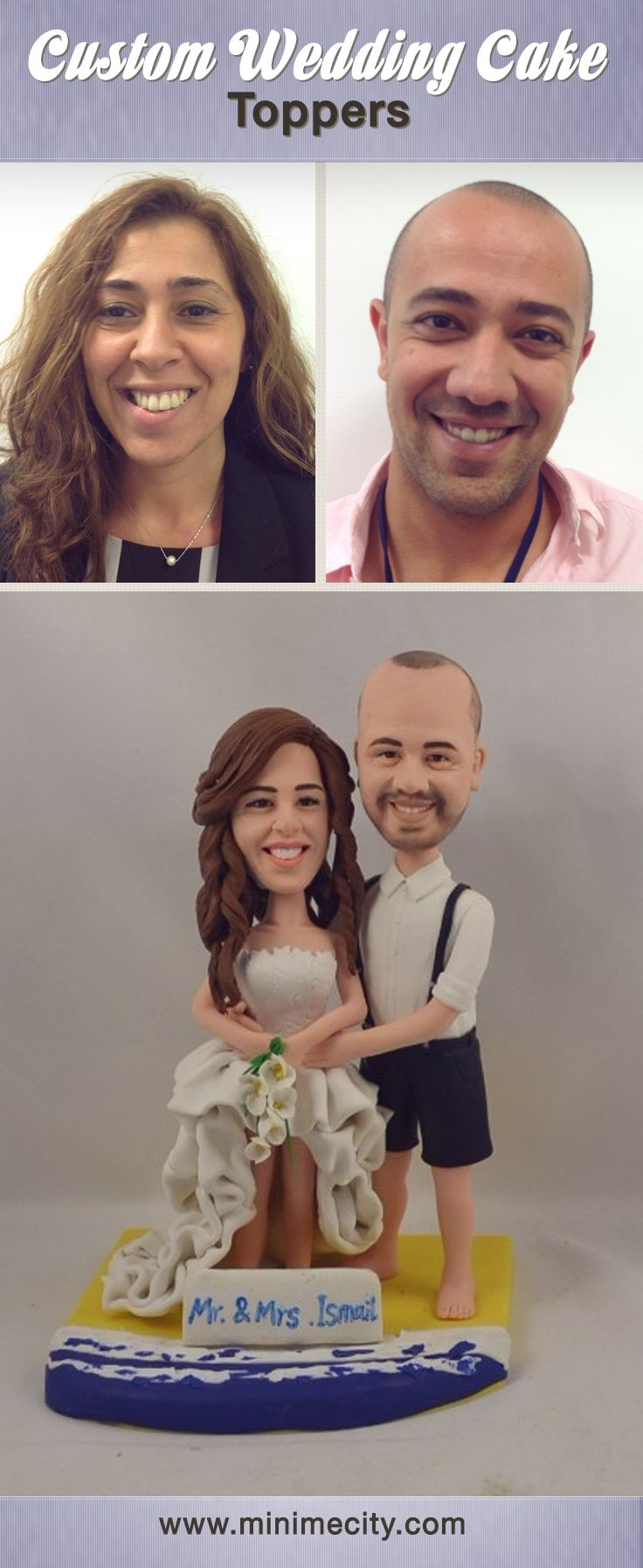 Custom figurines from your photos cake toppers pinterest