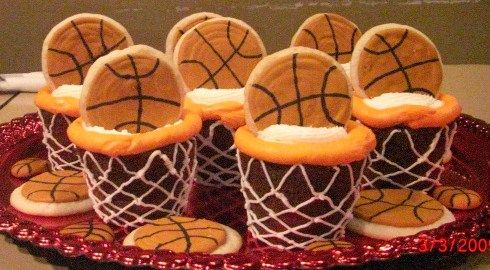 Cookies Look Like Basketballs Basketball Cupcakes
