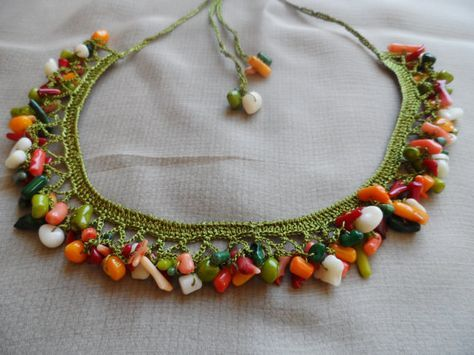 French Knit Necklace Ornamente