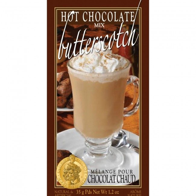 A single serve pouch of hot chocolate (35g/1.2oz) which is convenient and easy to use. Just mix with hot water for a perfect rich and creamy butterscotch hot chocolate.