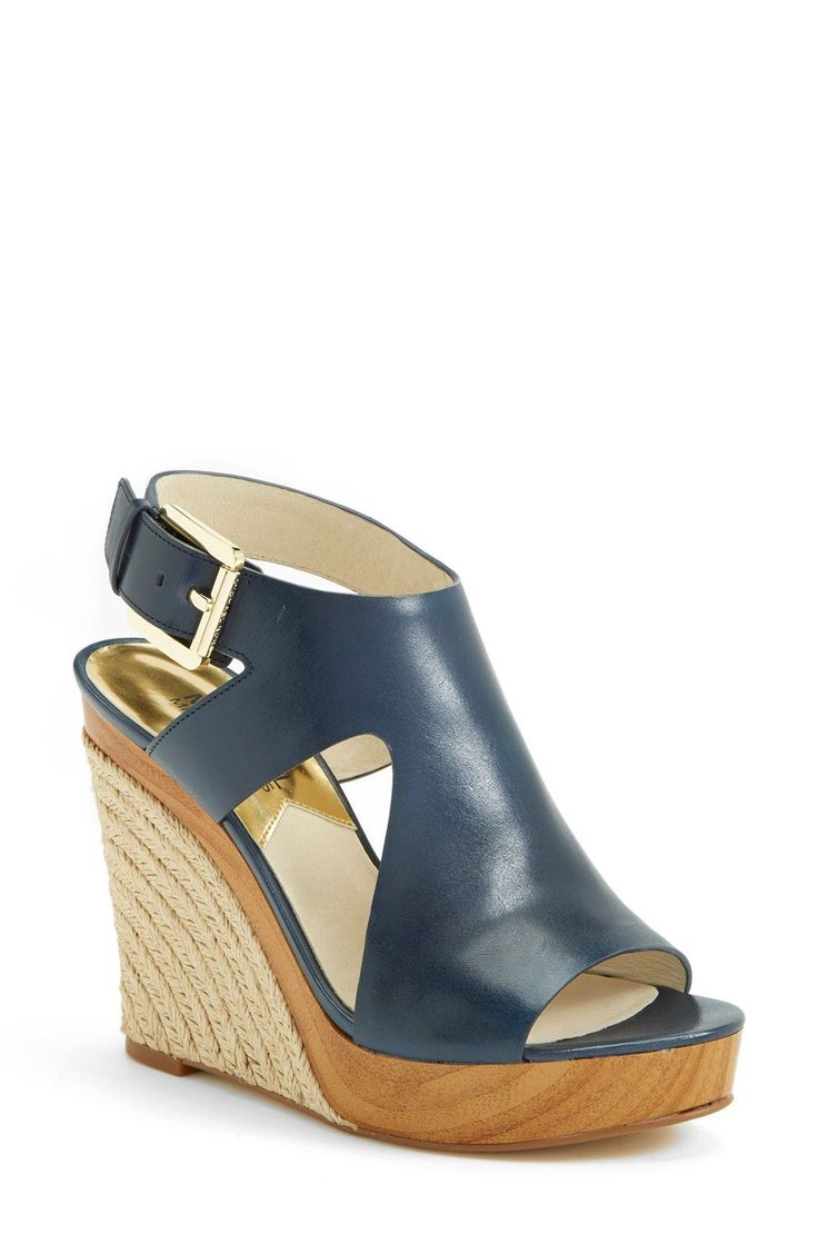 Navy wedges for spring | Michael Kors.