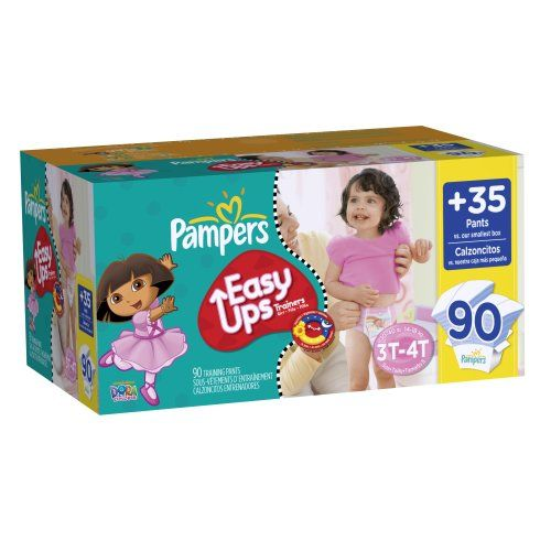 Pampers Easy Ups Girls Size 3T4T Value Pack, 90 Count   Multicityhealth.com  List Price: $31.44 Discount: $4.23 Sale Price: $27.21