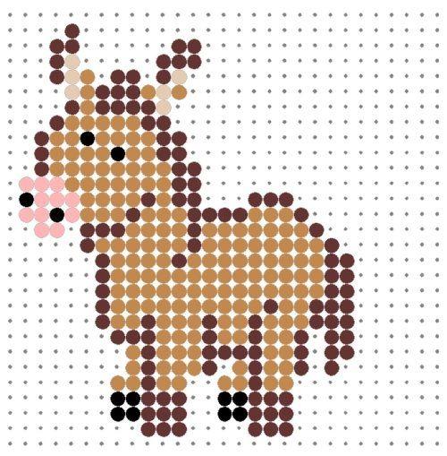 Donkey  hama perler beads / Bügelperlen