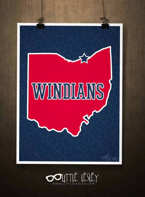 Windians  Cleveland Indian Poster by LittleLesley on Etsy, $15.00 #littlelesley #windians
